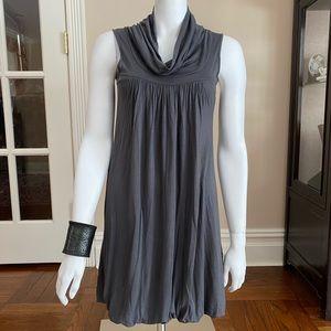 Soprano Cowl Neck Sleeveless Dress Gray